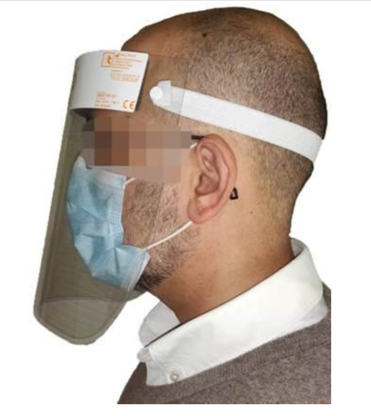 PF01- Emedis Faceshields (25st). Re-Usable. Classified as PPE Cat. 1. ISO13485. Non-sterile.