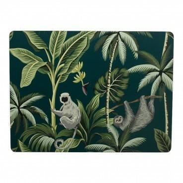 Luxe placemats jungle petrol ( verwacht 12-12-2020)