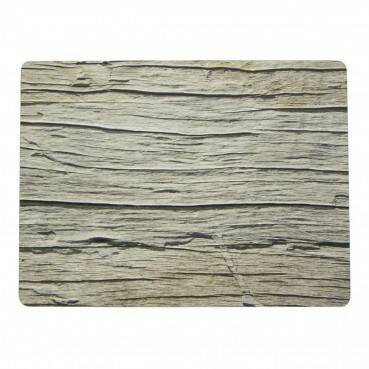 Luxe placemats oud hout.