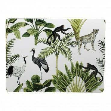 Luxe placemats jungle wit ( verwacht 12-12-2020)