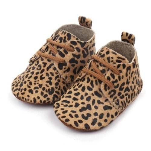 Baby Mocassins Leather Cheetah