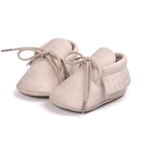 Baby Mocassins Leather Old Pink