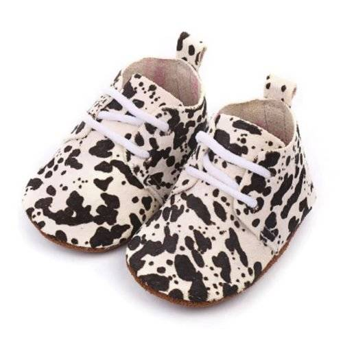 Baby Mocassins Leather Paint Dots