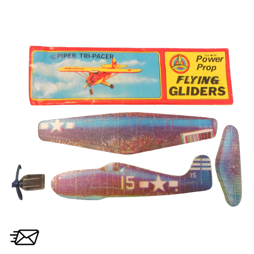 Power Prop Flying Gliders Piper Tri-Pacer Nr. 12