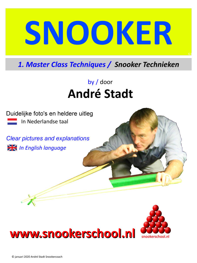 Deel 1. Snookerboek Master Class Techniques / Snooker technieken