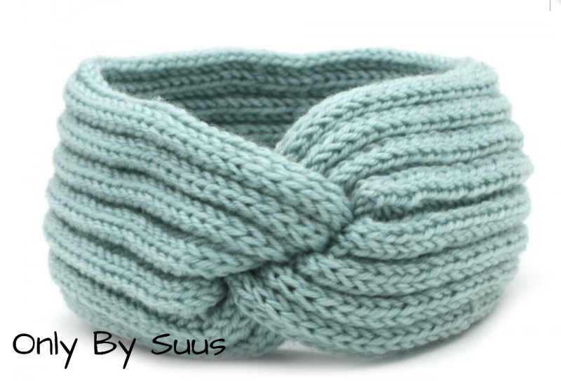 Knitted Haarband 'Blue & Green'