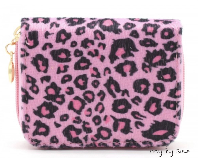 'Wallet Pink Leopard Small'