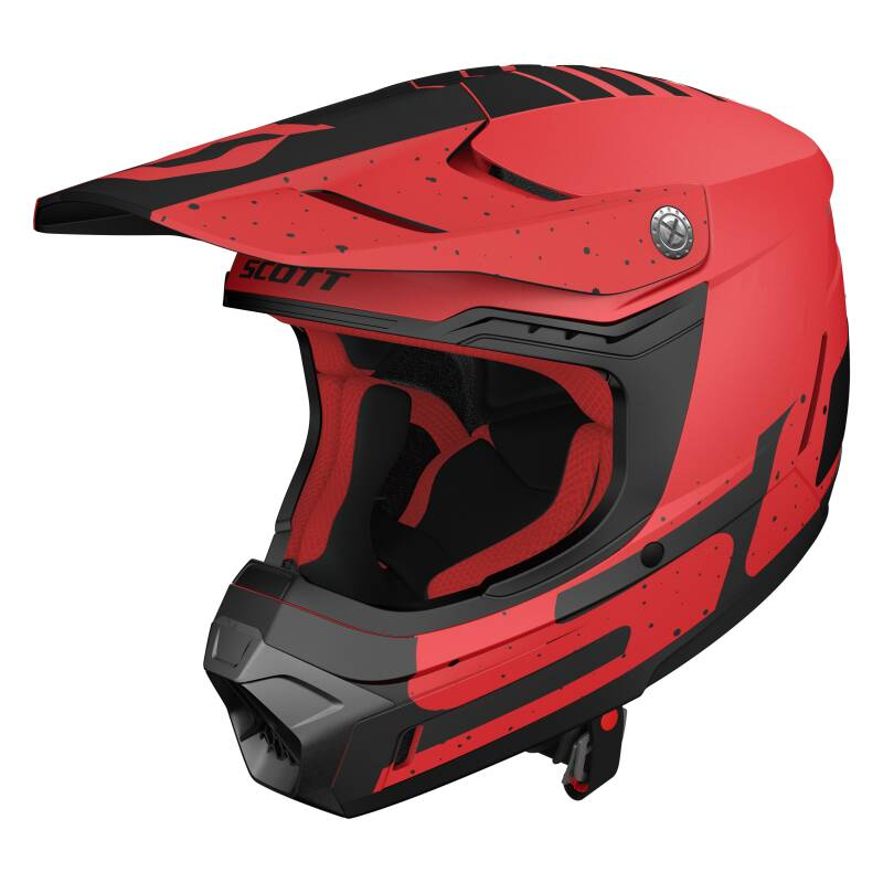 Scott 350 helm red black