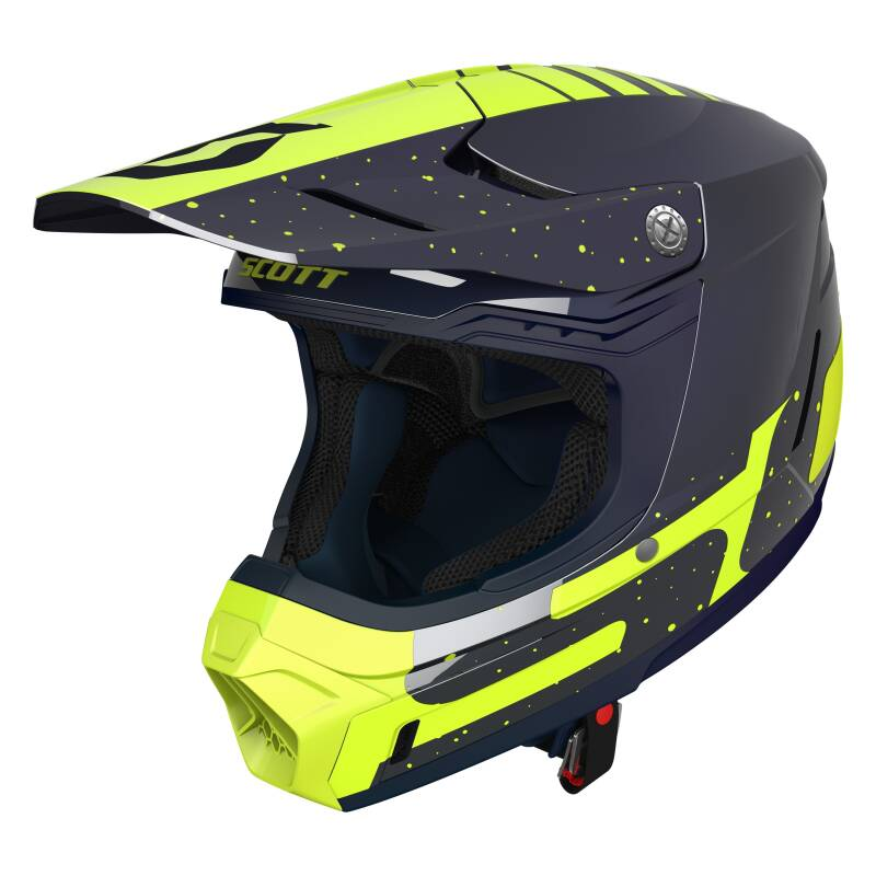 scott 350 helm blue yellow