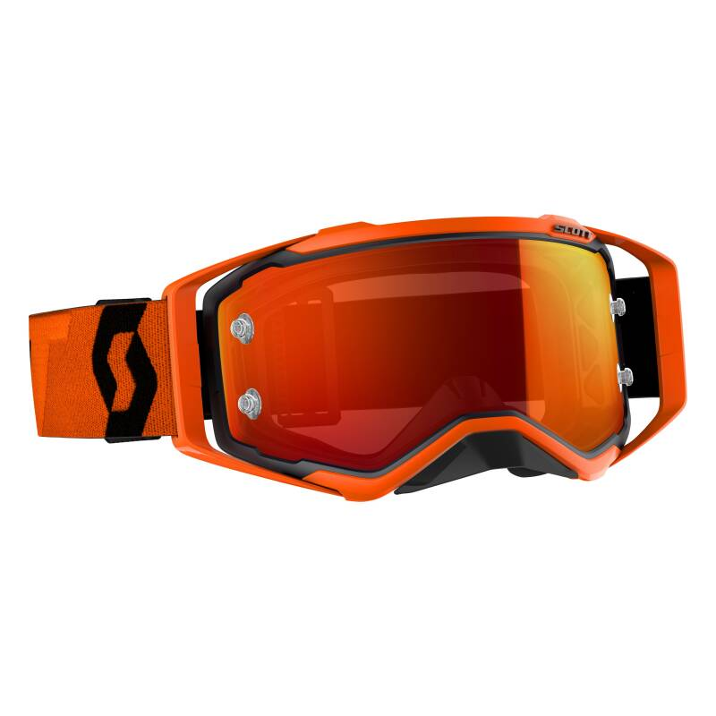 Scott prospect black orange chrome lens