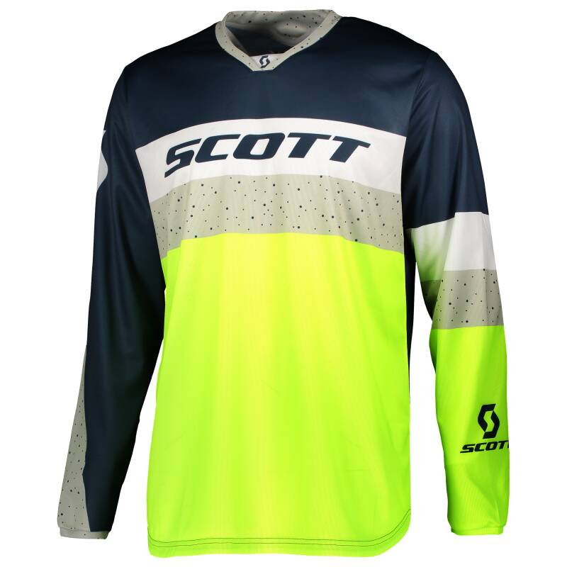 Scott 350 shirt blue yellow