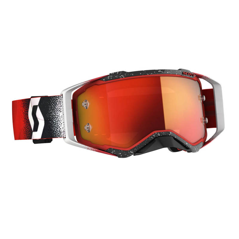 Scott Prospect 2020 White/Red Orange chrome works lens