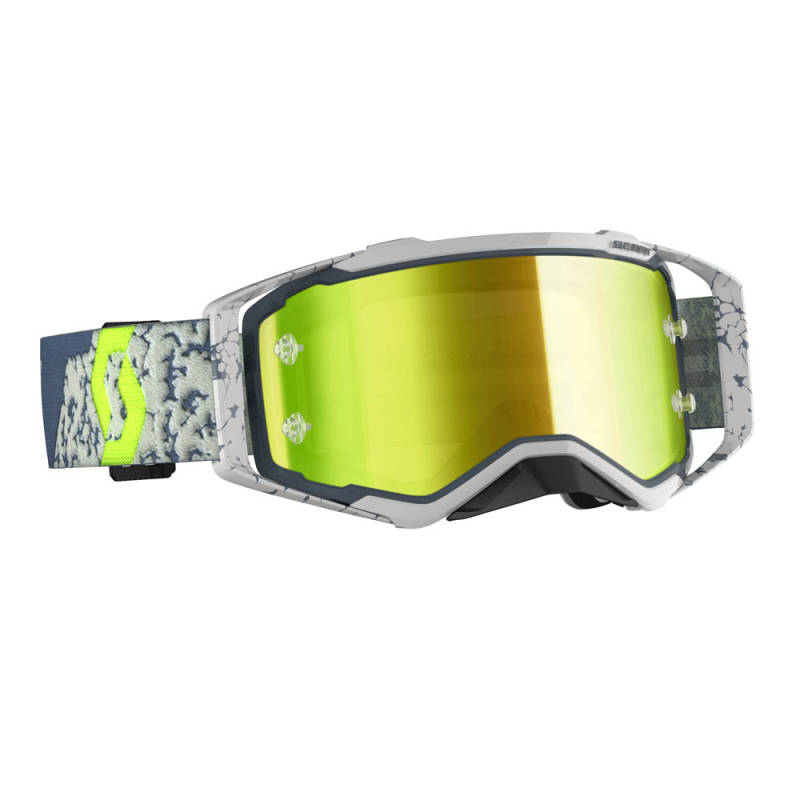 Scott Prospect 2020 Grey/Dark Grey Yellow chrome works lens