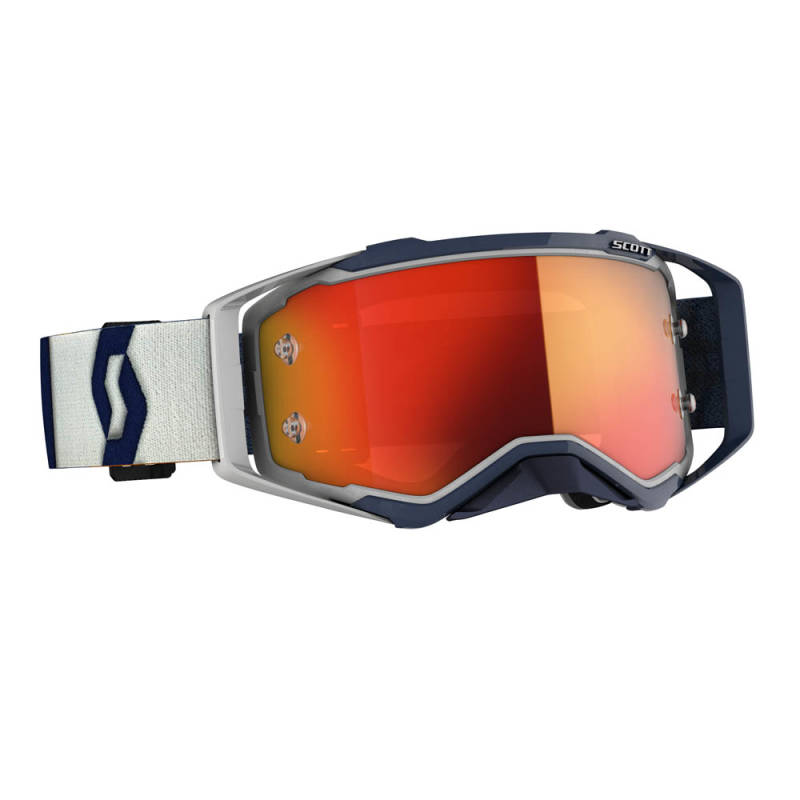 Scott Prospect 2020 Grey/Dark Blue Orange chrome works lens