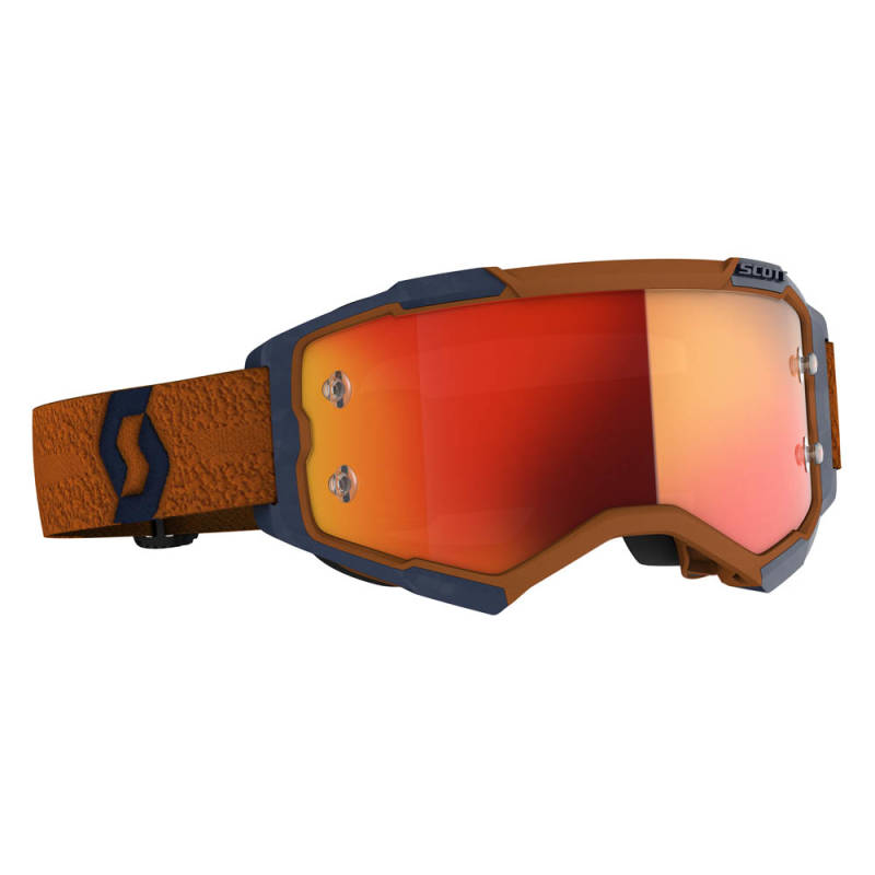 Scott Fury Crossbril Grijs/Oranje (Oranje chrome works lens)
