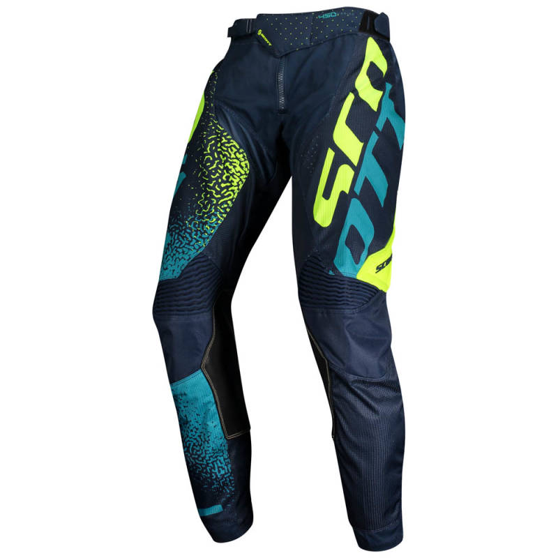 Scott 450 Noise Crossbroek 2020 Blauw/Geel