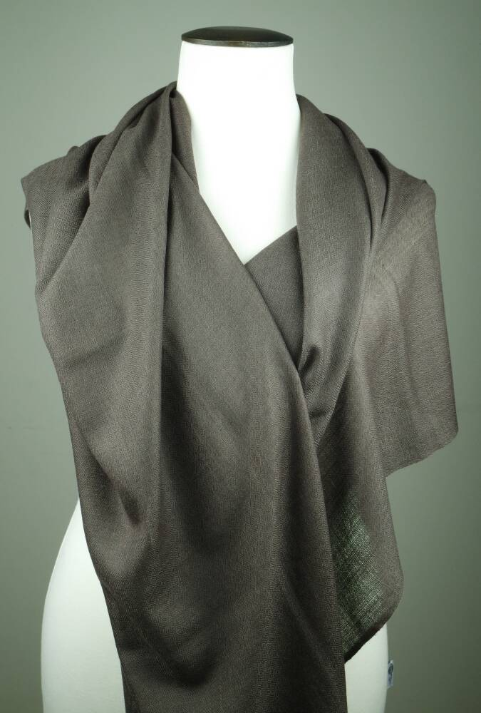 Olida Pashmina Cashmere Sjaal | Donker-Taupe | 70 x 200 cm