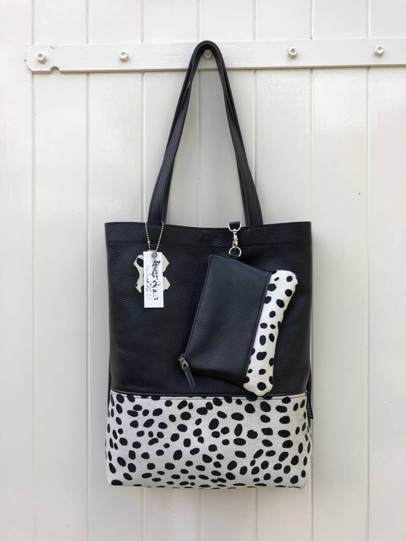Tote bag incl. make-up tasje zwart 2