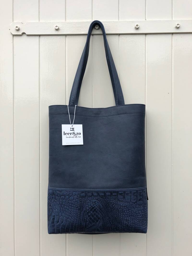 Tote Bag donkerblauw 01