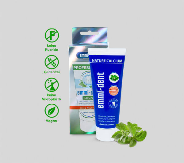 W1-65103 Emmi-Dent Nature Calcium Ultrasoon Tandpasta 75 ml.