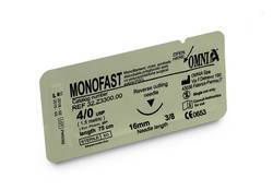 32.Z3300 - MONOFAST SUTURE 4/0 75 CM. 16MM, SHARP, 3/8 CIRCLE, SHARP (12pcs)