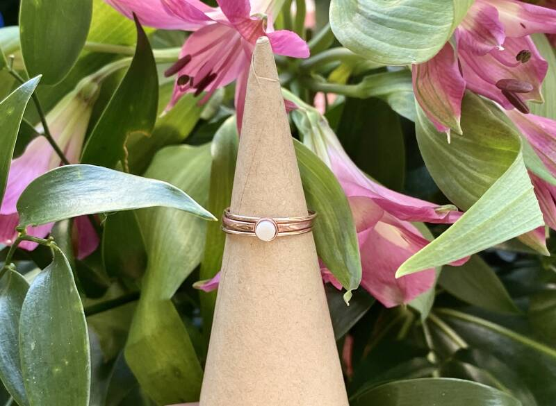 14K/ 20 rose gold filled ring