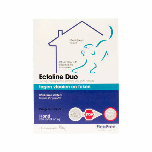 Ectoline Duo Hond 20-40 kg 2 pipetten