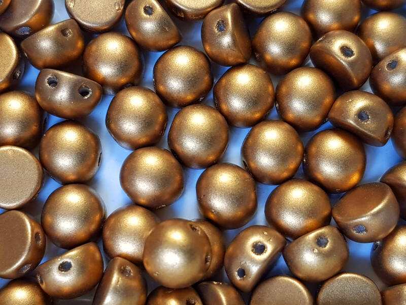 2-hole Cabochon Metallic Gold