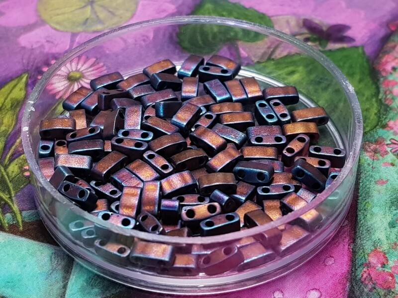 Half Tila Beads Mat Copper / 5gr