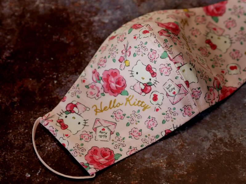 Handgemaakte mondmasker Hello Kitty 01