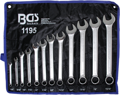 "Steekringsleutelset | inches | 1/4"" - 15/16"" 