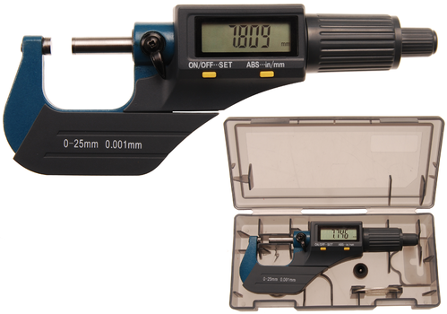 Digitale micrometer | 0 - 25 mm bgs8427