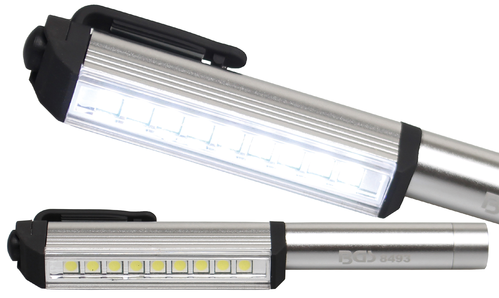 LED stift aluminium met 9 LED's BGS 8493
