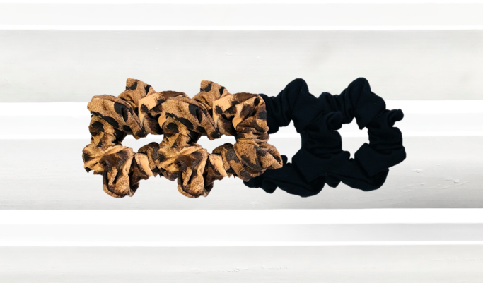 Combi Black Noir + Tiger Queen Scrunchie