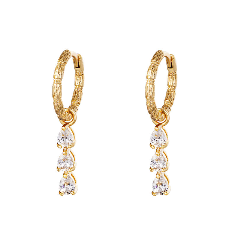 Row Earrings Gold
