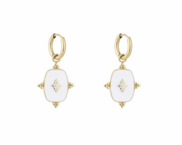 Zara Earrings White