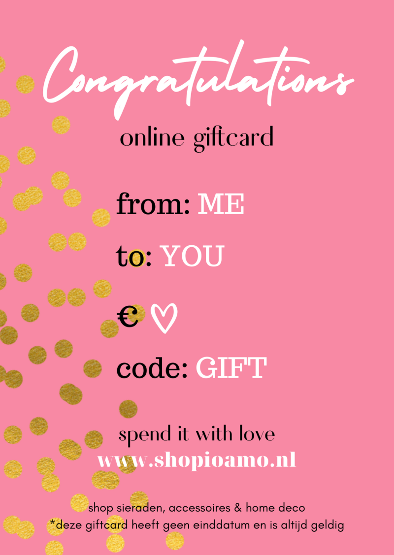 Online Giftcard Congratulations