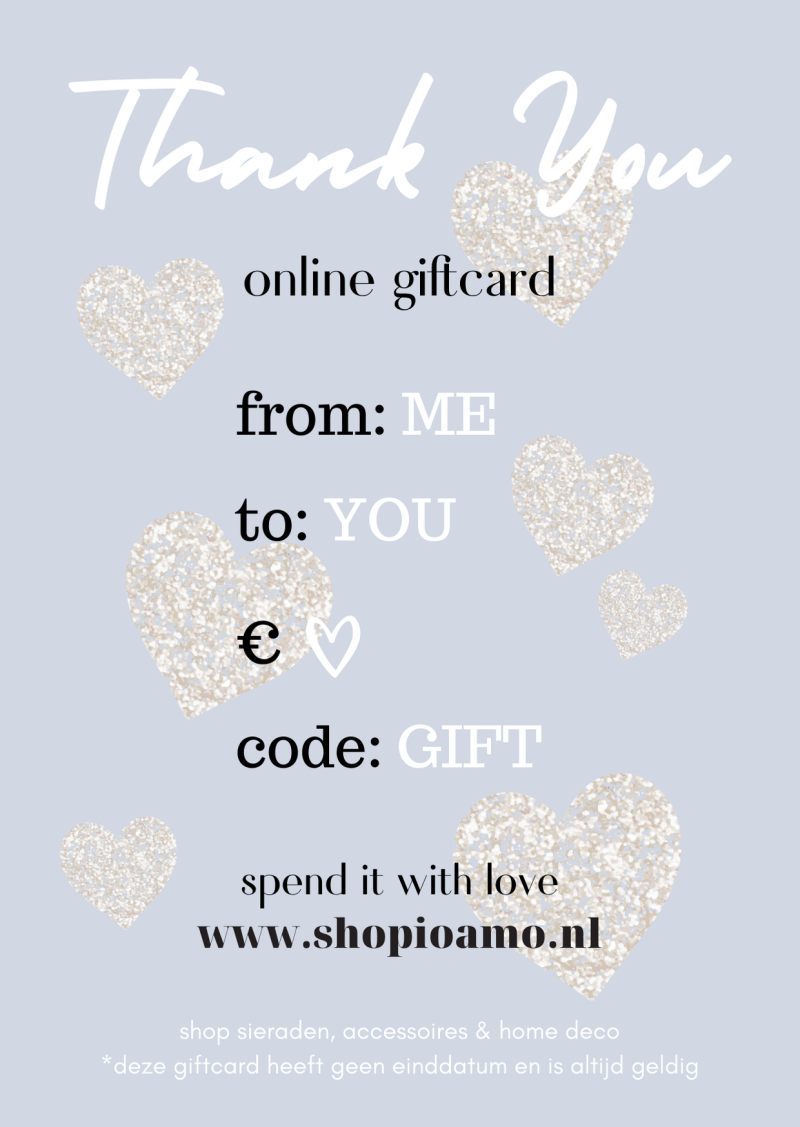 Online Giftcard Thank You