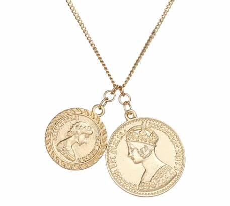 Two Coin Necklace