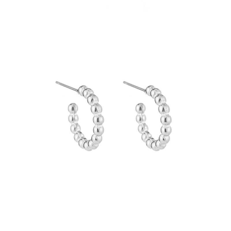 Drip Earrings Silver