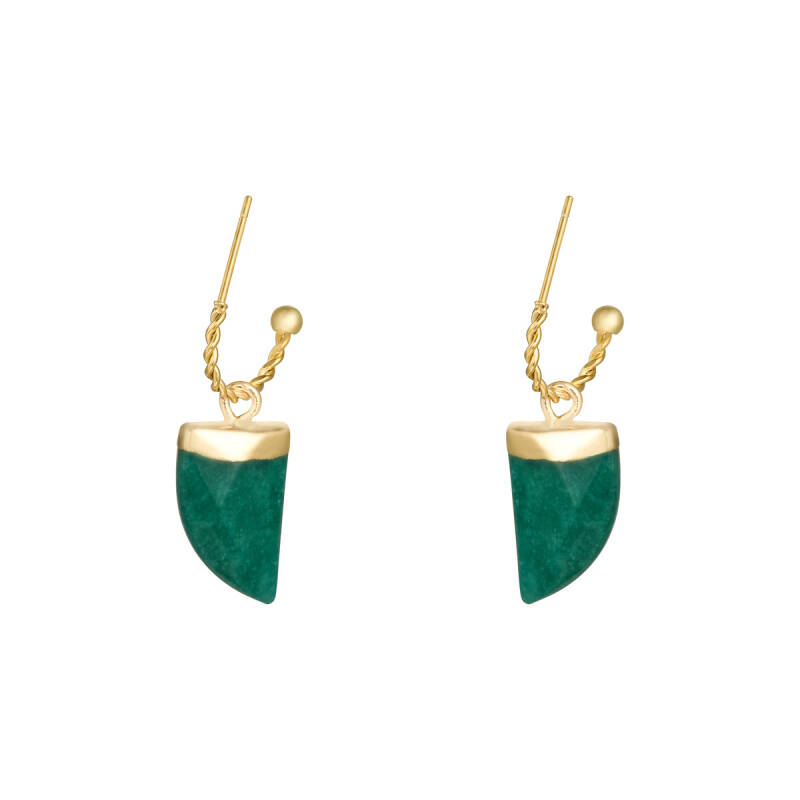 Shark Tooth Earrings Green