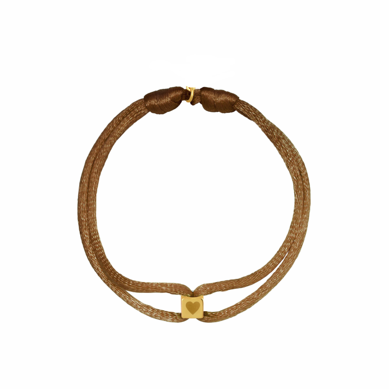 Cube Bracelet Light Brown