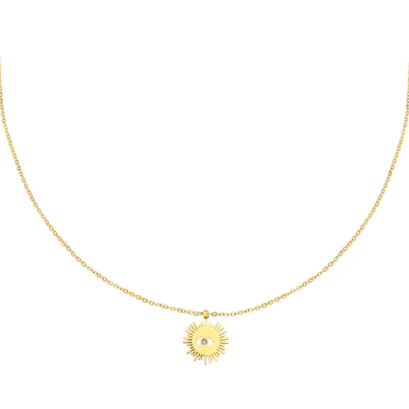 Eye Necklace Gold