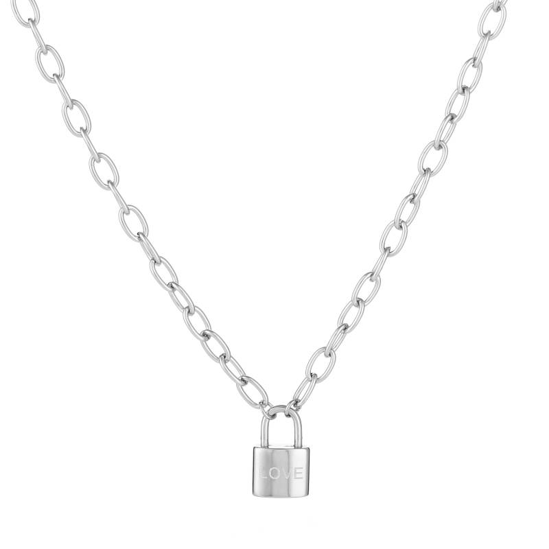 Love Lock Necklace Silver
