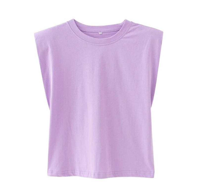 Shoulder T-shirt Purple