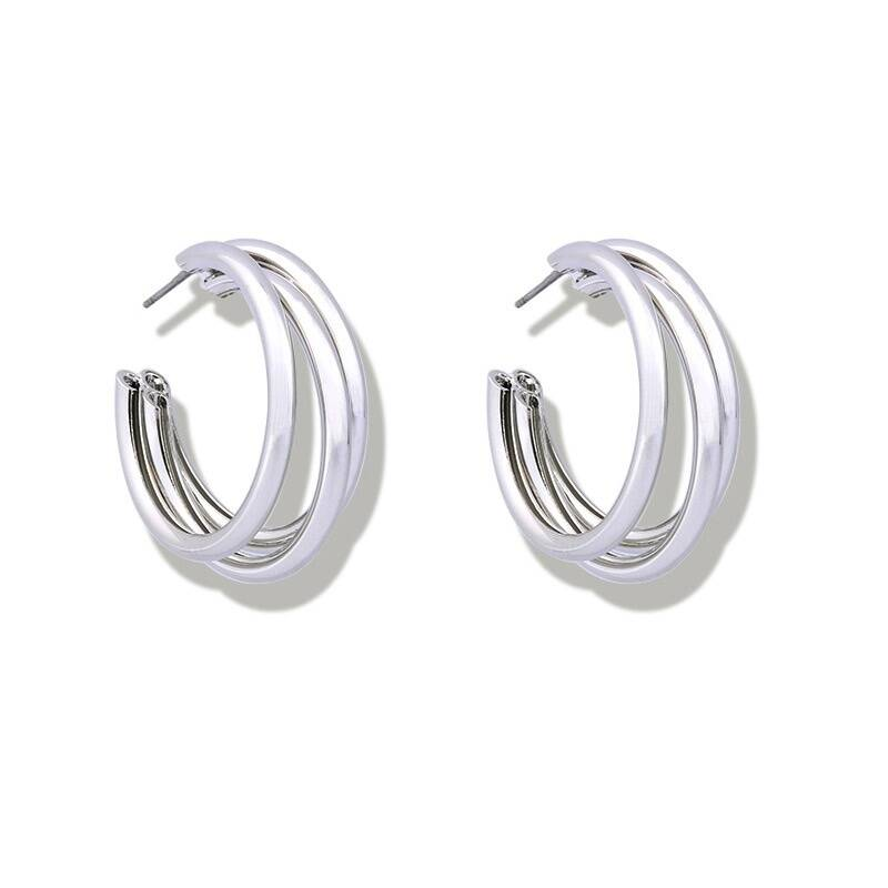 Valentina Earrings Silver