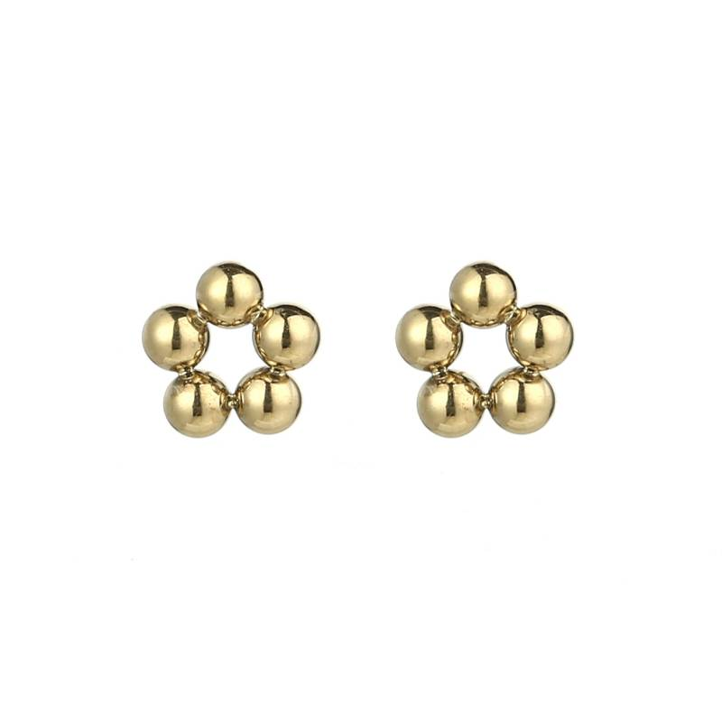 Baby Flower Earrings Gold