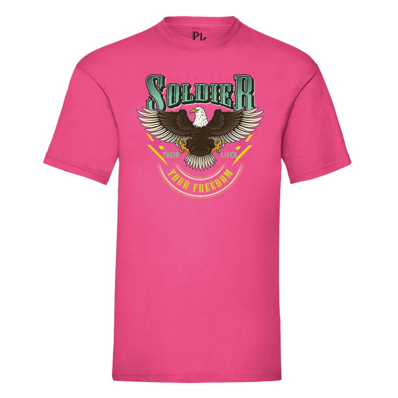 T-shirt American Soldier Pink