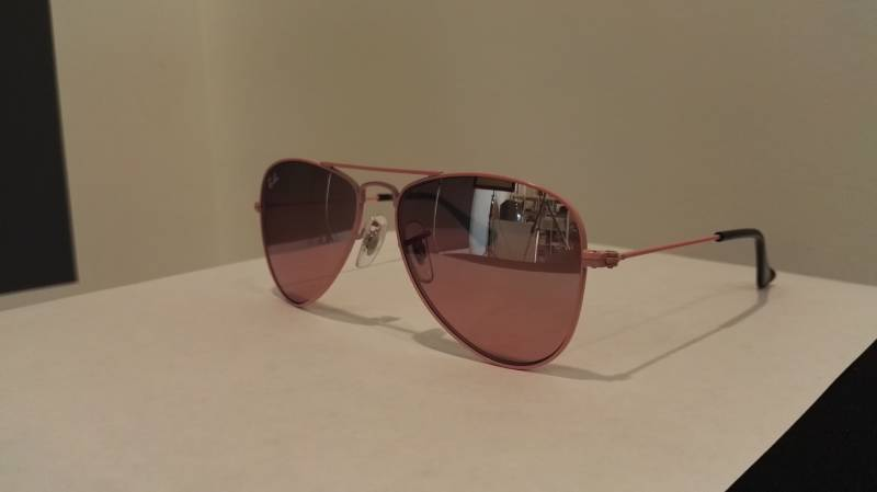 Ray-Ban junior pilotenbril roze