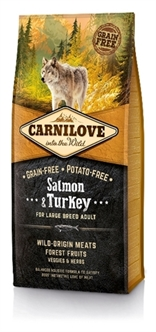CARNILOVE SALMON / TURKEY ADULT LARGE BREED 12 KG65,45